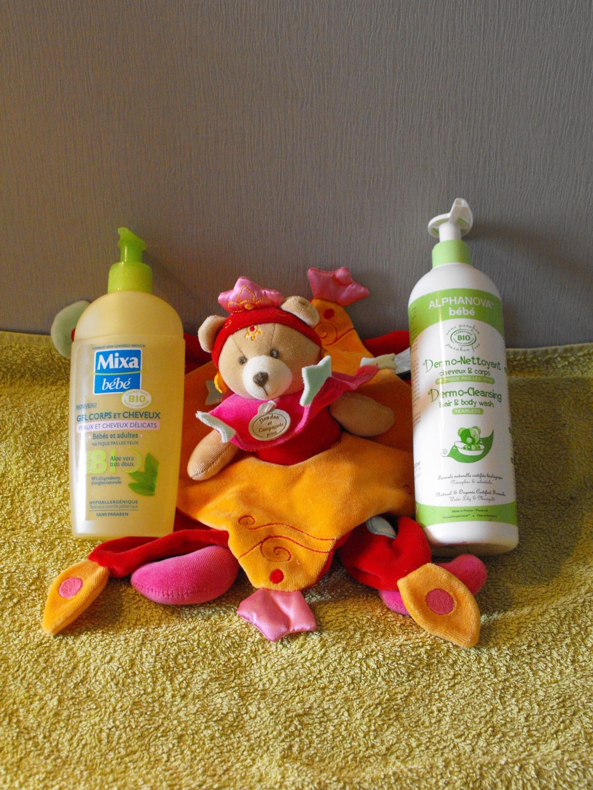 Gel corps et cheveux bébé bio Mixa VS Alphanova